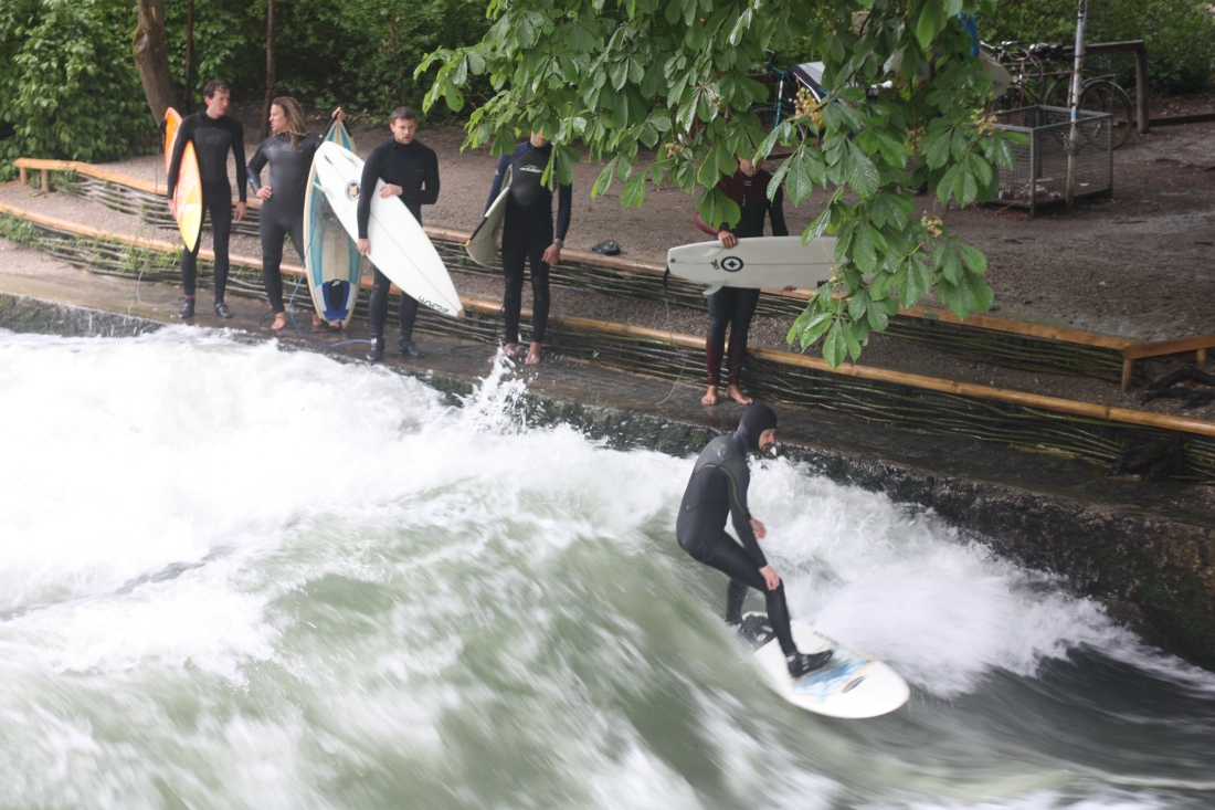 A view from the bridge: surfing Munichs Eisbach River