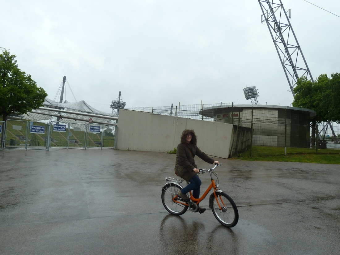 In front of Munich's Olympic Stadium