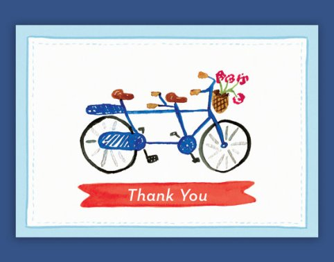 Giving these out to well-behaved motorists seems a trifle excessive but nonetheless well-intentioned (image from Etsy https://www.etsy.com/uk/listing/151580295/bicycle-built-for-two-thank-you-notes?ref=market)